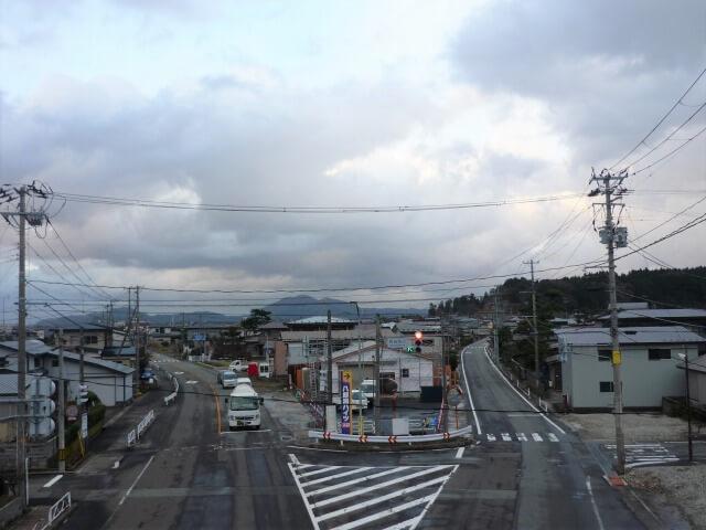 飯田川歩道橋 井川方面