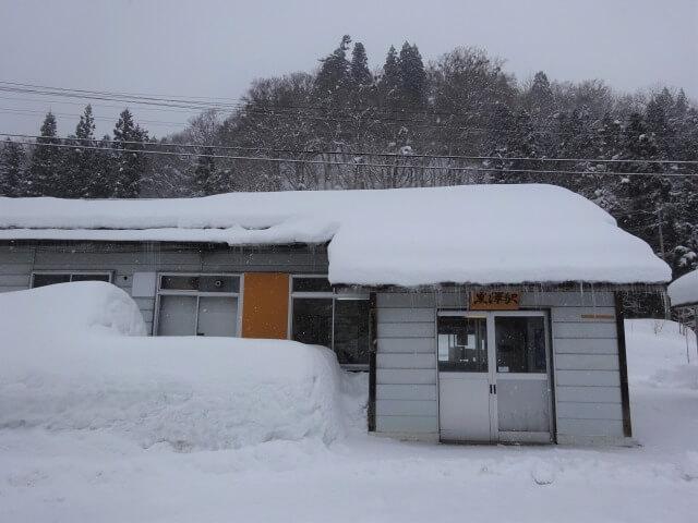 黒沢駅 冬