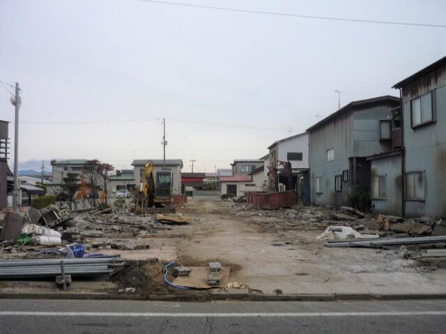 秋田港名店街 解体後