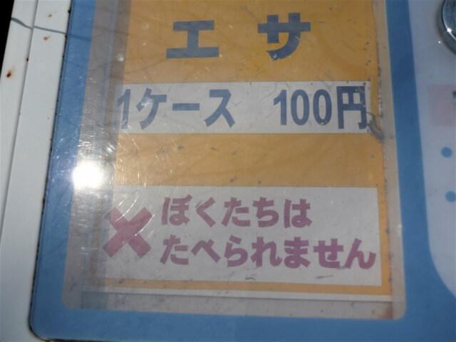 天鷺遊園ファミリーランド 鯉のエサ販売機