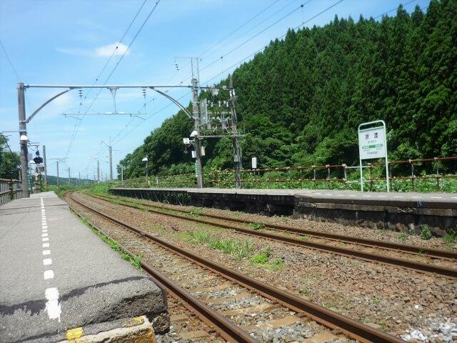 折渡駅 ホーム