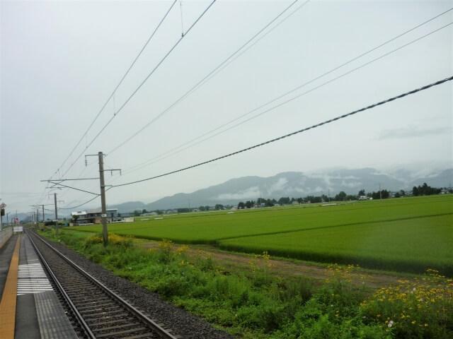 鑓見内駅 からの風景