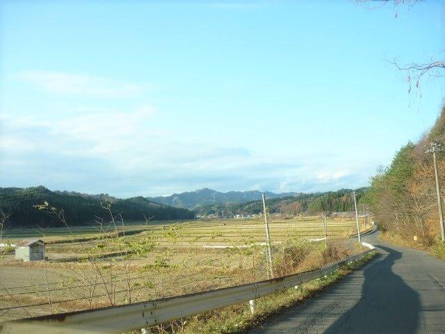 綴子小田農村公園 道中