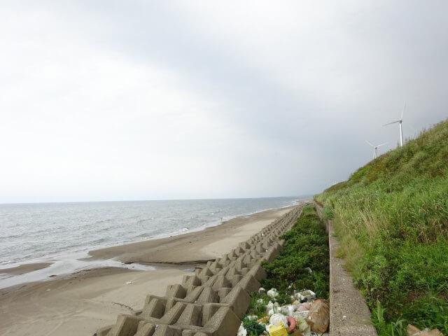 廃村 申川 海岸