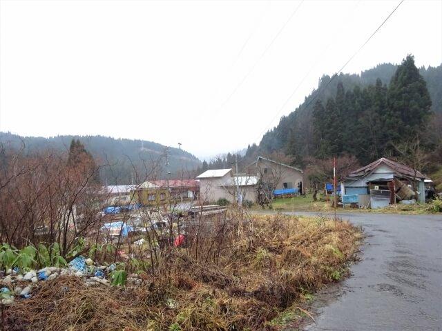 上小阿仁村中茂 全景