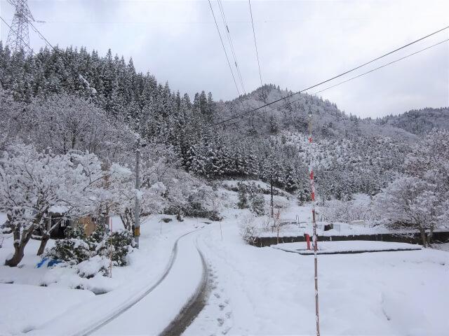 上小阿仁村中茂 冬の風景