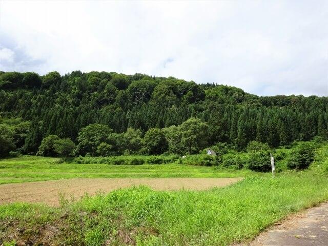 廃村 鳥海町栩山 入口