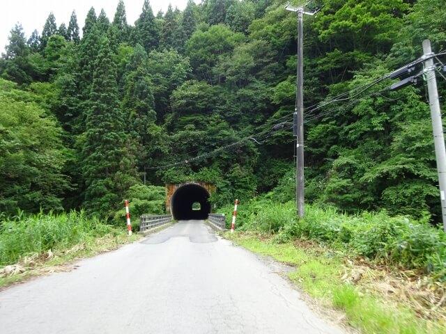 二ツ井町 旧田代小学校 揚石トンネル