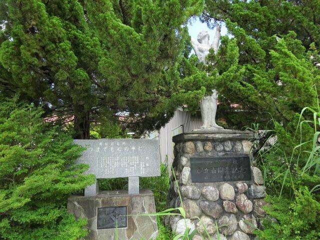 二ツ井町 旧田代小学校 銅像