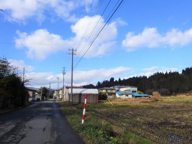 田代町 旧岩野目小学校 道中