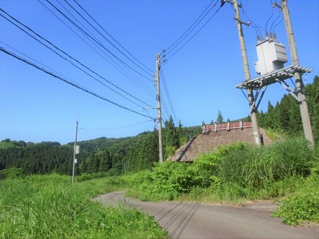 廃村 矢島町軽井沢 脇道