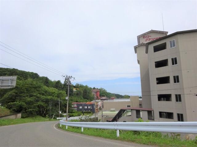男鹿温泉郷 遠目