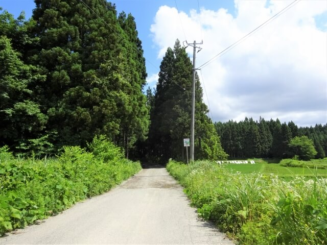 廃村 大仙市田ノ沢 入口