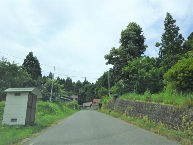矢島町荒沢地区 濁川