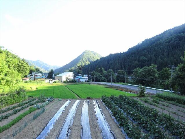 鳥海町立笹子小学校西久米分校 眺望